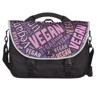 """Vegan"" Word-Cloud Mosaic Laptop Messenger Bag"