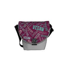 """Vegan"" Word-Cloud Mosaic Messenger Bag at Zazzle"