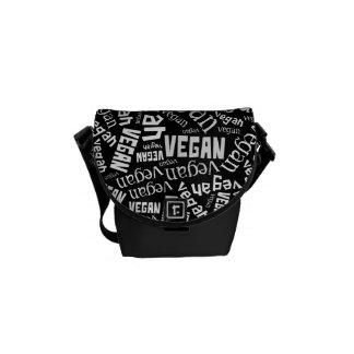 """Vegan"" Word-Cloud Mosaic Messenger Bag"