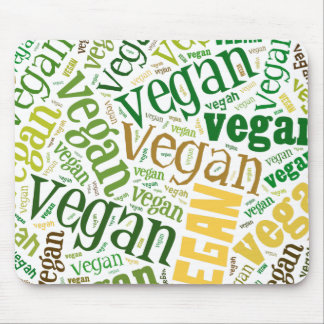 """Vegan"" Word-Cloud Mosaic Mouse Pad"