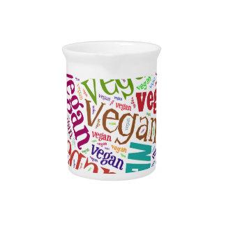 """Vegan"" Word-Cloud Mosaic Beverage Pitcher"