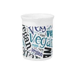 """Vegan"" Word-Cloud Mosaic Drink Pitchers"