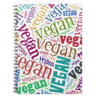 """""""Vegan"""" Word-Cloud Mosaic Spiral Notebook"""