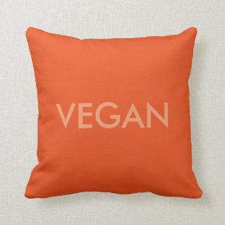 Vegan words throw pillow