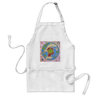 Vegan world adult apron