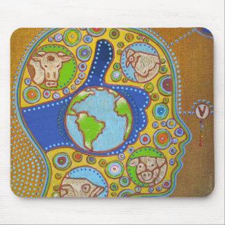 Vegan world like mouse pad