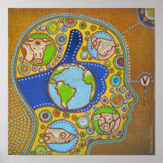 Vegan world Poster