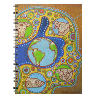 Vegan world spiral notebook