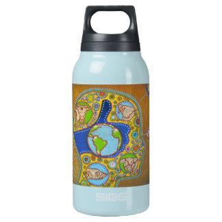 Vegan world thermos water bottle