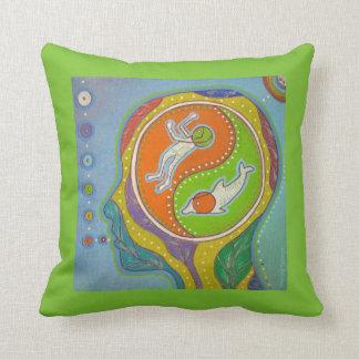 Vegan Yin Yang Throw Pillow