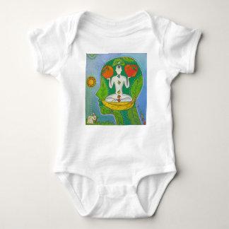 vegan yoga baby bodysuit