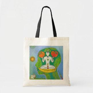 Vegan Yoga fruits Tote Bag
