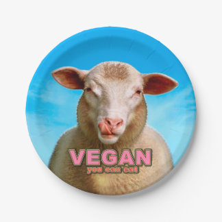 VEGAN you can eat Paper Plate