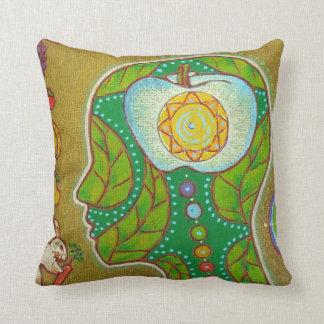 Vegan Zen Throw Pillow