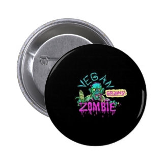 Vegan Zombie 2 Inch Round Button