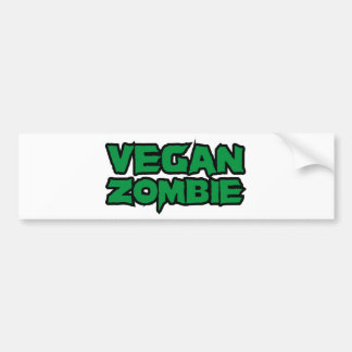 Vegan Zombies Bumper Sticker