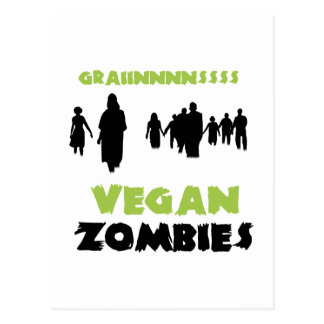 Vegan Zombies Postcard