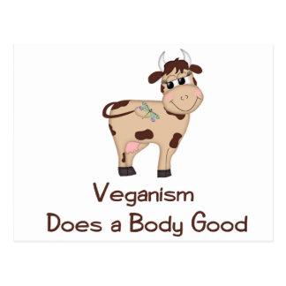 Veganism, Does a body good Postcard