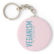 VEGANISM is Altruism (blue) Keychain