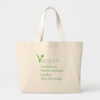 Veganism reutilizable del bolso de compras del bolsa tela grande