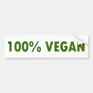 Vegano 100% pegatina de parachoque
