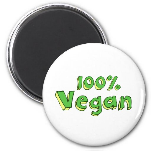 Vegano 100% imán redondo 5 cm