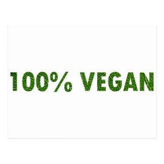 Vegano 100% tarjetas postales