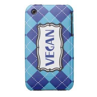 Vegano (argyle azul) Case-Mate iPhone 3 cobertura