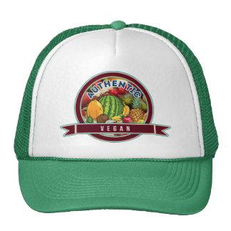 Vegano auténtico gorras