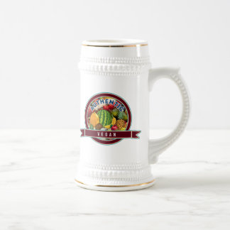 Vegano auténtico jarra de cerveza