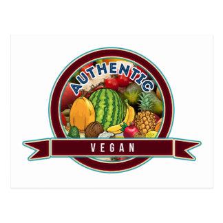 Vegano auténtico postales