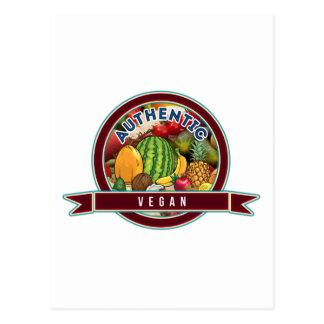 Vegano auténtico tarjetas postales