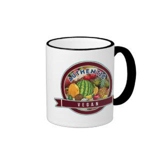 Vegano auténtico taza de dos colores