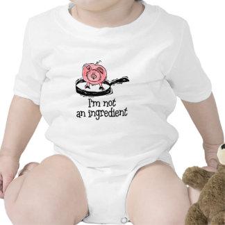Vegano bebé vegetariano traje de bebé