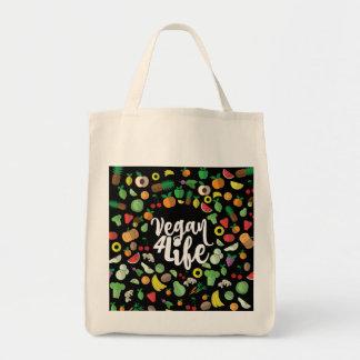 Vegano bolso de ultramarinos de 4 vidas bolsa tela para la compra
