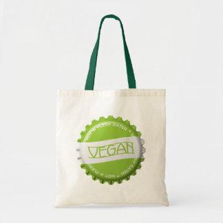 Vegano Bottlecap Bolsa Tela Barata