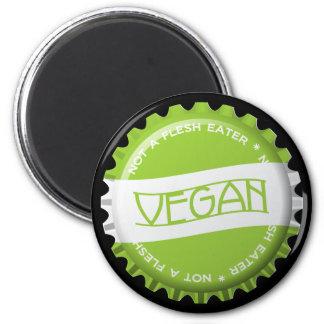 Vegano Bottlecap Imán Redondo 5 Cm