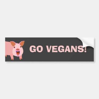 Vegano Bumpersticker Etiqueta De Parachoque