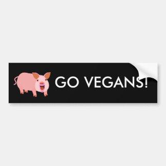 Vegano Bumpersticker Pegatina Para Auto