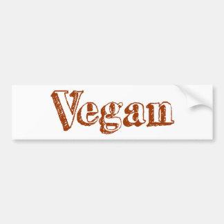 Vegano Pegatina De Parachoque
