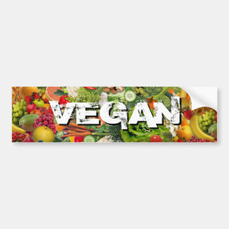 Vegano Pegatina Para Auto