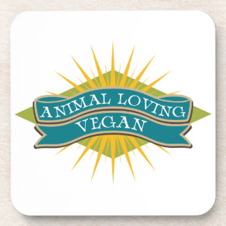Vegano cariñoso animal posavaso