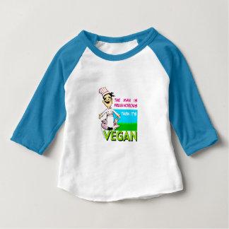 Vegano/cocinero vegetariano playera de bebé