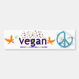 Vegano colorido pegatina para auto