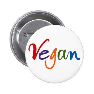 Vegano colorido pin