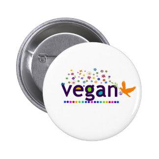 Vegano colorido pins