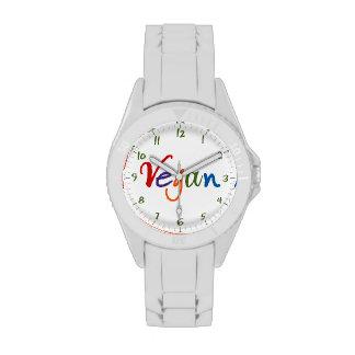 Vegano colorido relojes