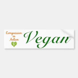 Vegano: Compasión en la acción Pegatina Para Auto