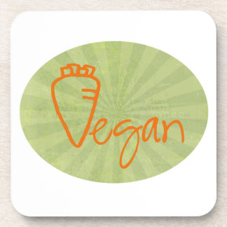 Vegano (con el gráfico de la zanahoria) posavasos de bebidas