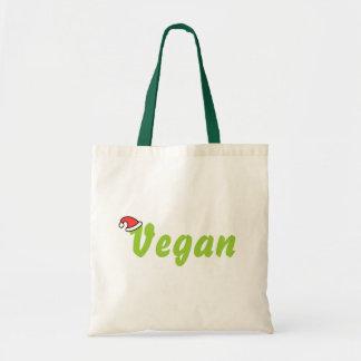 Vegano con el sombrero del navidad bolsa tela barata